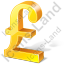 Pound Sterling 3D Yellow Icon