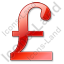 Pound Sterling Red Icon