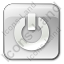 Power Box Grey Icon, PNG/ICO, 64x64