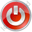 Power Circle Red Icon, PNG/ICO, 64x64