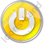 Power Circle Yellow Icon