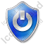 Power Shield Blue Icon