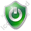 Power Shield Green Icon