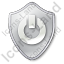 Power Shield Grey Icon, PNG/ICO, 64x64