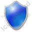 Shield Blue Icon, PNG/ICO, 64x64