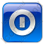 Shutdown Box Blue Icon