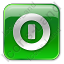 Shutdown Box Green Icon