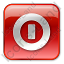 Shutdown Box Red Icon