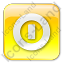 Shutdown Box Yellow Icon, PNG/ICO, 64x64