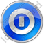 Shutdown Circle Blue Icon