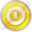 Shutdown Circle Yellow Icon
