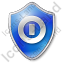 Shutdown Shield Blue Icon