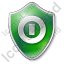 Shutdown Shield Green Icon