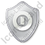 Shutdown Shield Grey Icon