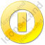 Shutdown Yellow Icon