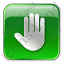 Stop Box Green Icon, PNG/ICO, 64x64