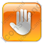 Stop Box Orange Icon, PNG/ICO, 64x64