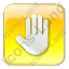 Stop Box Yellow Icon, PNG/ICO, 64x64