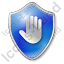 Stop Shield Blue Icon, PNG/ICO, 64x64