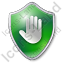 Stop Shield Green Icon