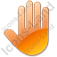 Stop Hand Orange Icon, PNG/ICO, 64x64