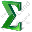 Summation 3D Green Icon