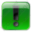 Warning Box Green Icon