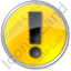 Warning Circle Yellow Icon