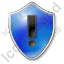 Warning Shield Blue Icon