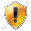 Warning Shield Yellow Icon