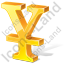 Yen 3D Yellow Icon