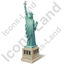 New York City Statue Of Liberty Icon, PNG/ICO, 128x128