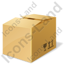 Bulk Box Closed Icon, PNG/ICO, 128x128