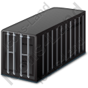 Freight Container Black Icon