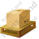 Pallet Bulk Box Icon, PNG/ICO, 128x128