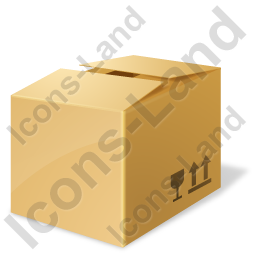 Bulk Box Closed Icon, PNG/ICO, 256x256