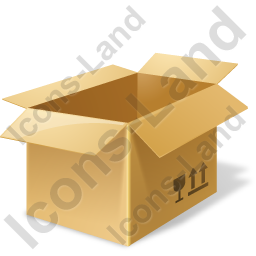 Bulk Box Opened Icon, PNG/ICO, 256x256