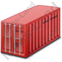 Freight Container Red Icon