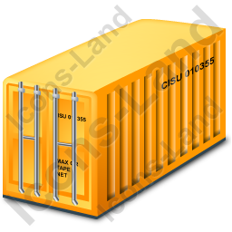 Freight Container Yellow Icon