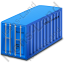 Freight Container Blue Icon