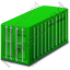 Freight Container Green Icon