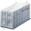 Freight Container Grey Icon