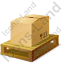 Pallet Bulk Box Icon, PNG/ICO, 64x64