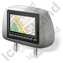 Car Headrest Monitor Map Icon, AI,