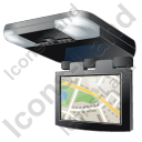 Car Overhead Monitor Map Icon, PNG/ICO, 128x128