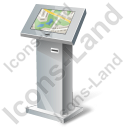 Interactive Kiosk Map Icon, PNG/ICO, 128x128