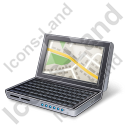 NetBook Map Icon, PNG/ICO, 128x128