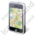 iPhone Map Icon, PNG/ICO, 128x128