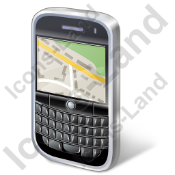 BlackBerry Map Icon, PNG/ICO, 256x256
