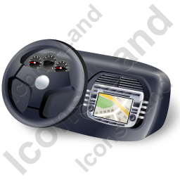Car Head Unit Map Icon
